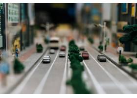 关闭在路的小汽车模型交通构想_6446456