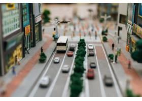 关闭在路的小汽车模型交通构想_6446459