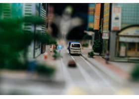 关闭在路的小汽车模型交通构想_6446465