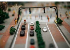 关闭在路的小汽车模型交通构想_6446482