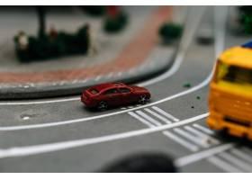 关闭在路的小汽车模型交通构想_6446485