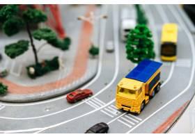 关闭在路的小汽车模型交通构想_6446487