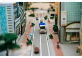 关闭在路的小汽车模型交通构想_6446489