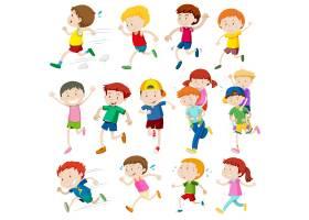 跑步的孩子的简单的字符_1109718
