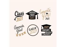 手绘课程的2021个字体徽章集合_13597411
