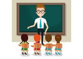 有学生的人老师在教室_4965927