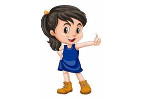 在白色隔绝的逗人喜爱的愉快的微笑的孩子_5291001