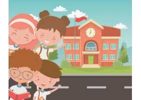 与孩子的学校大厦在现场_4939262