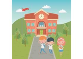与孩子的学校大厦在现场_4939269