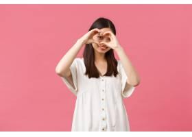 美容人们情感和夏天休闲概念白色礼服的_17107283