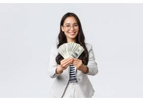 商业财务和工作企业家和金钱概念女商_17078817