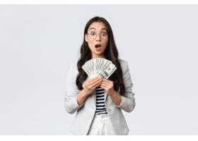商业财务和工作企业家和金钱概念惊讶_17078777