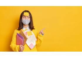 医疗保健和教育概念高兴的青少年学生穿着_14260330