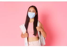 在冠状病毒大流行和预防病毒概念快乐可爱亚_16779681