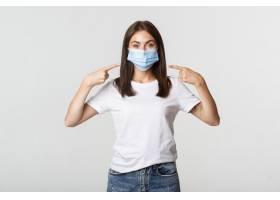 Covid19健康和社会疏远概念在面孔的医_10933090