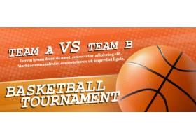 篮球比赛广告横幅模板现实传染媒介_5900593