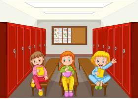 群在更衣室的孩子_11829715