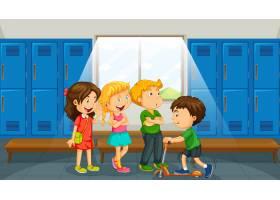 群在更衣室的孩子_12364701
