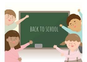 学生在即将到来的学期回到学校他们很高兴_17631572