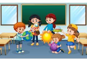 学生在教室背景_12364928图片