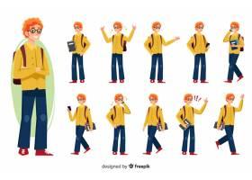 学生设置了不同的姿势_2881097