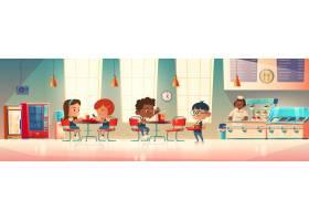 孩子们在学校食堂吃_8308827