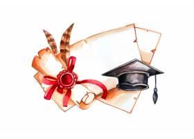 手绘水彩毕业例证_13817963