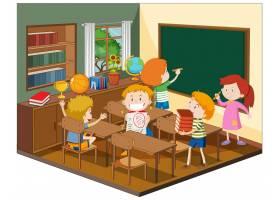 儿童在教室里有家具_11863215