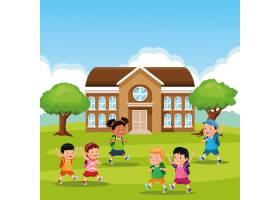 回到学校的孩子卡通_4743077