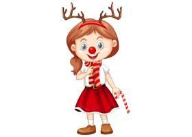 圣诞节服装漫画人物的逗人喜爱的女孩_11770674