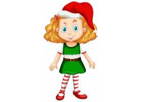 圣诞节服装漫画人物的逗人喜爱的女孩_11829940