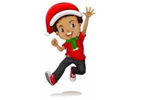 圣诞节服装漫画人物的逗人喜爱的男孩_11701903
