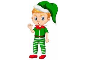 圣诞节服装漫画人物的逗人喜爱的男孩_12321643