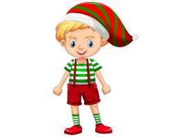 圣诞节服装漫画人物的逗人喜爱的男孩_12337307