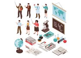 教师和学校设置与课程和教育标志被隔绝的等_6862892