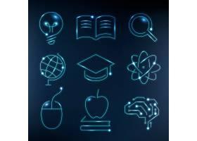 教育技术蓝色象向量数字和科学图表集合_17213044