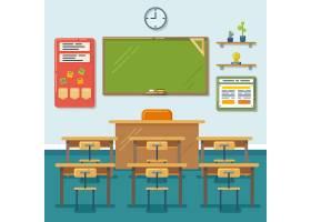 有黑板和书桌的学校教室教育董事会表_10603225