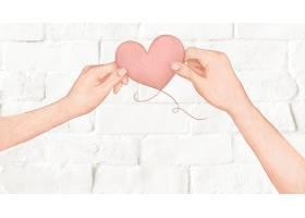 拿着心脏气球的夫妇为情人节例证_13313417