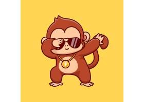 凉快的猴子炖的动画片传染媒介象例证动物_16305696