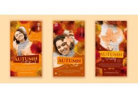 详细的秋天instagram故事与照片的集合_16391061
