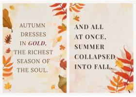 秋天季节报价模板向量为海报设置_16397155