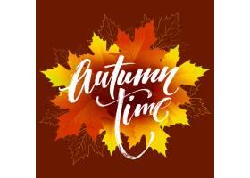 秋天时间季节性横幅设计秋叶传染媒介例_16312172