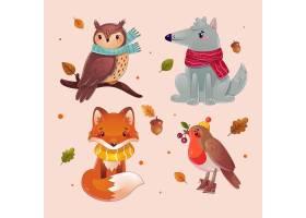 详细的秋天动物收藏_17808615