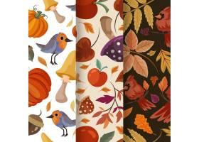 详细的秋季图案集合_16390961