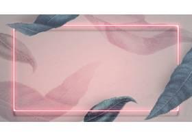 霓虹灯与桃子叶子社会模板_16310111
