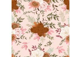 无缝的样式秋天花设计_17651498
