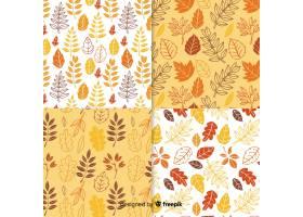 手拉的秋天样式的汇集_5123987