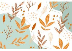 与叶子的手拉的秋天墙纸_9458015