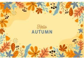 与叶子的秋天背景_9406005