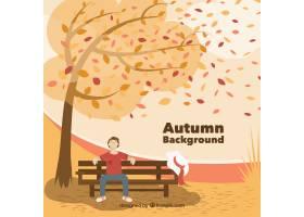 与平的设计的美好的秋天背景_2642267